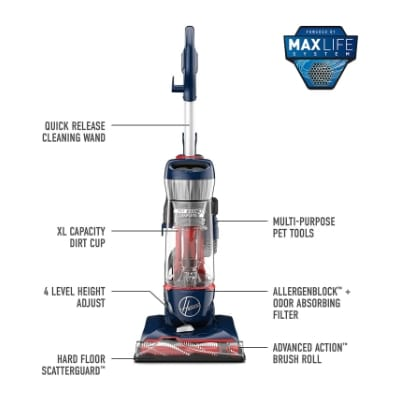 Hoover UH74110 Pet Max Bagless Upright Vacuum Cleaner
